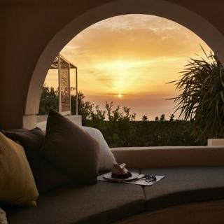 Tramonto dal portico Sikelia Luxory Hotel